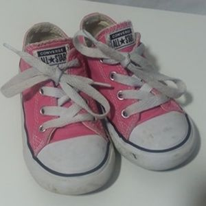CONVERSE All Star Girls Pink Shoes Baby Toddler 8